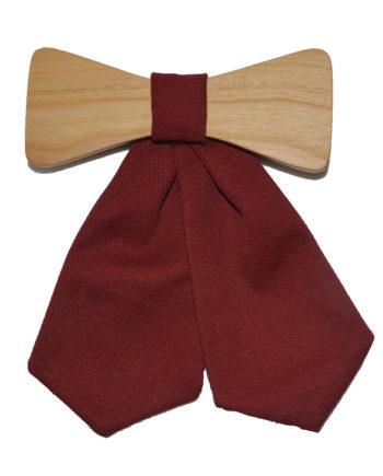MOI wooden tie for woman in burgundy