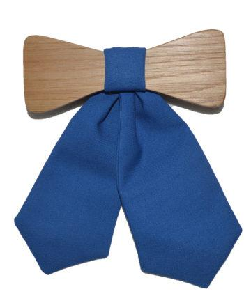 MOI wooden tie for woman in blue